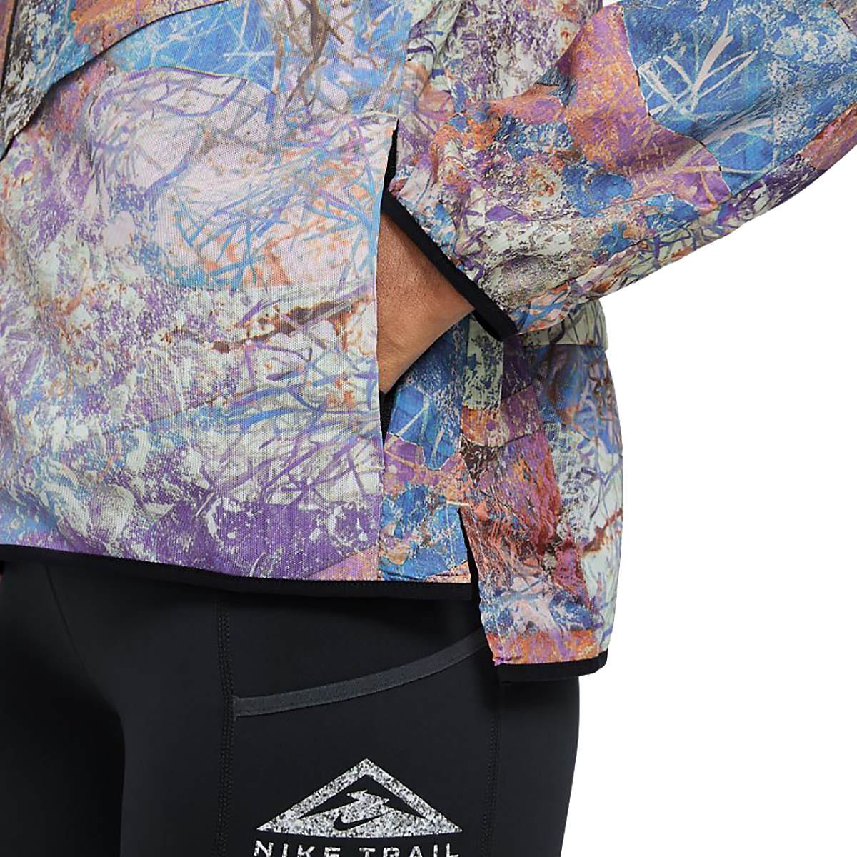 Women's Nike Windrunner Packable Trail Running Jacket - Color: Blue Lagoon/Black/Reflective Silver - Size: XS, Blue Lagoon/Black/Reflective Silver, large, image 3