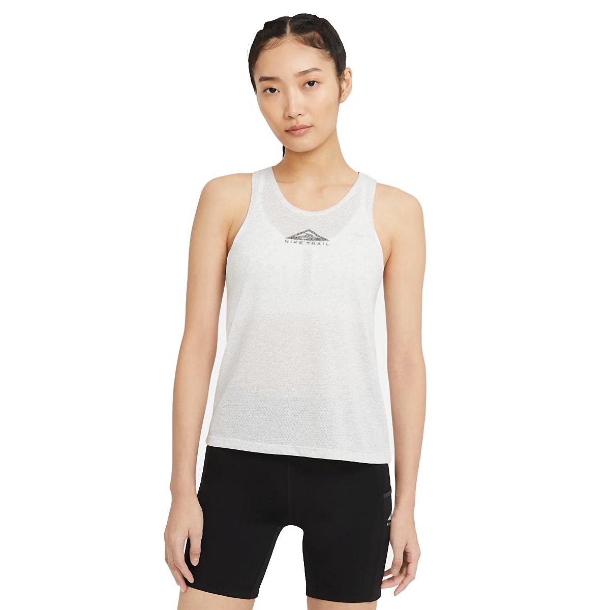 Women's Nike City Sleek Trail Running Tank - Color: Light Smoke Grey/Grey Fog/Reflective Silver - Size: XS, Light Smoke Grey/Grey Fog/Reflective Silver, large, image 1