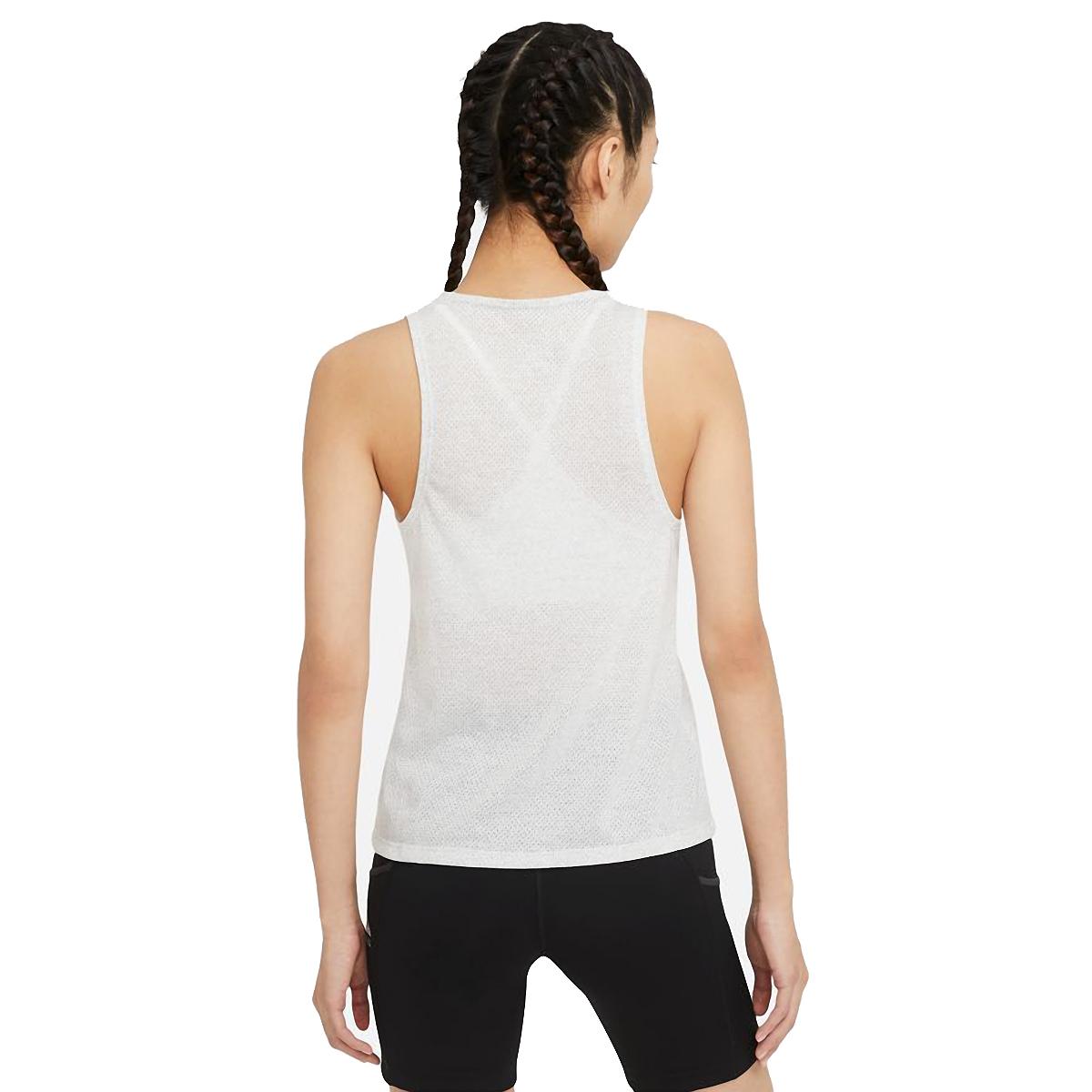 Women's Nike City Sleek Trail Running Tank - Color: Light Smoke Grey/Grey Fog/Reflective Silver - Size: XS, Light Smoke Grey/Grey Fog/Reflective Silver, large, image 2