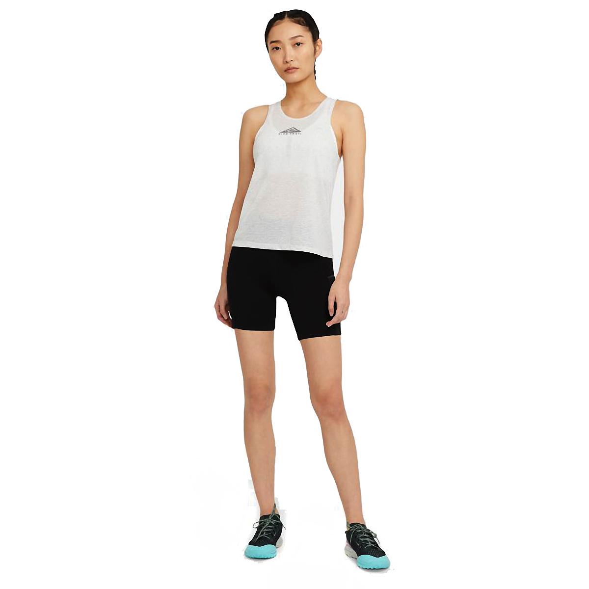 Women's Nike City Sleek Trail Running Tank - Color: Light Smoke Grey/Grey Fog/Reflective Silver - Size: XS, Light Smoke Grey/Grey Fog/Reflective Silver, large, image 3
