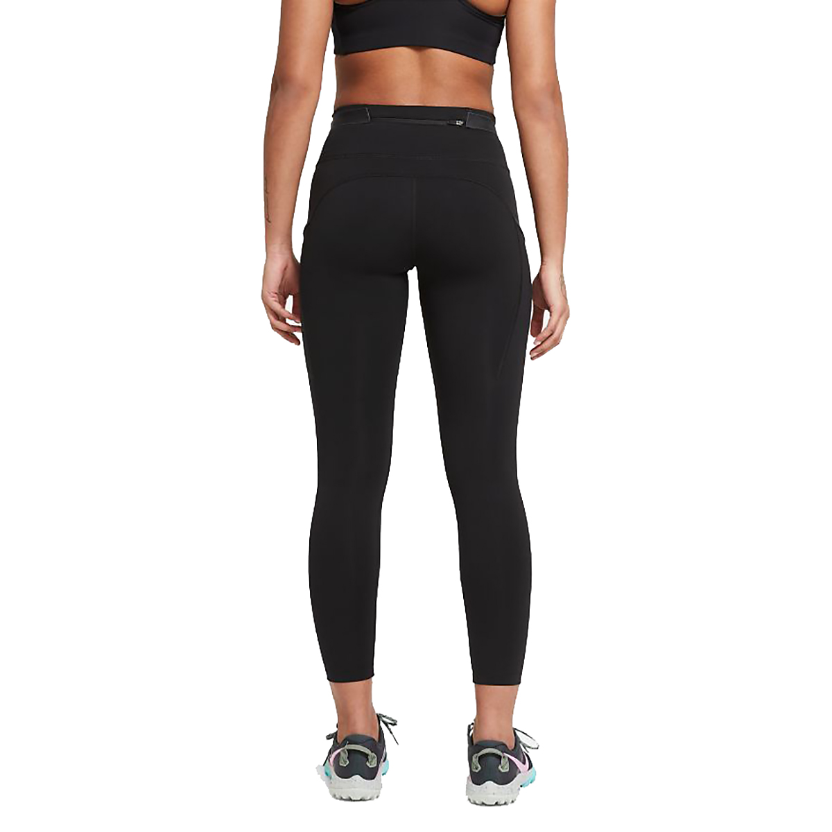 Women's Nike Epic Luxe Trail Running Tights - Color: Black/Dark Smoke Grey/Reflective Silver - Size: XS, Black/Dark Smoke Grey/Reflective Silver, large, image 2