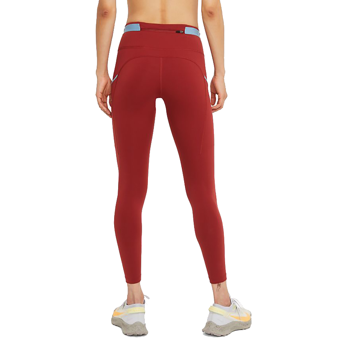 Women's Nike Epic Luxe Trail Running Tights - Color: Dark Cayenne/Cerulean/Reflective Silver - Size: XS, Dark Cayenne/Cerulean/Reflective Silver, large, image 2