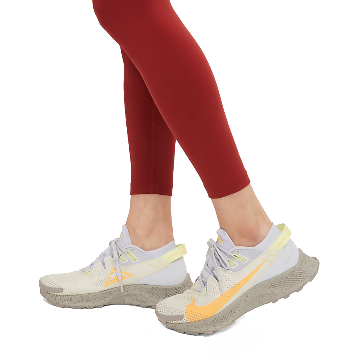 Women's Nike Epic Luxe Trail Running Tights - Color: Dark Cayenne/Cerulean/Reflective Silver - Size: XS, Dark Cayenne/Cerulean/Reflective Silver, large, image 7