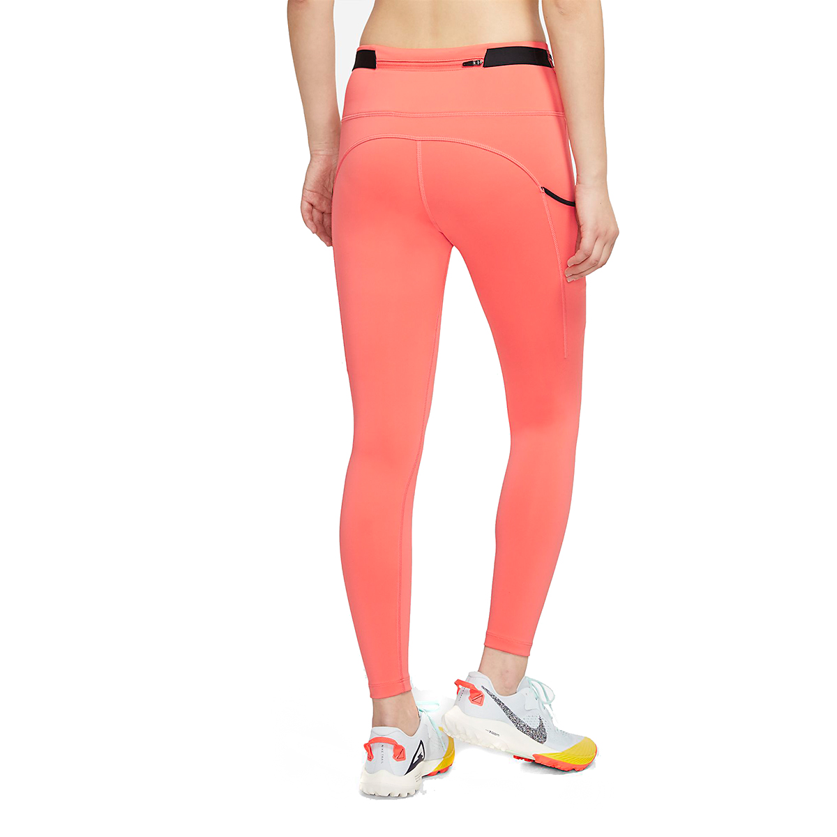 Women's Nike Epic Luxe Trail Running Tights - Color: Magic Ember/Black/Reflective Silver - Size: XXS, Magic Ember/Black/Reflective Silver, large, image 2