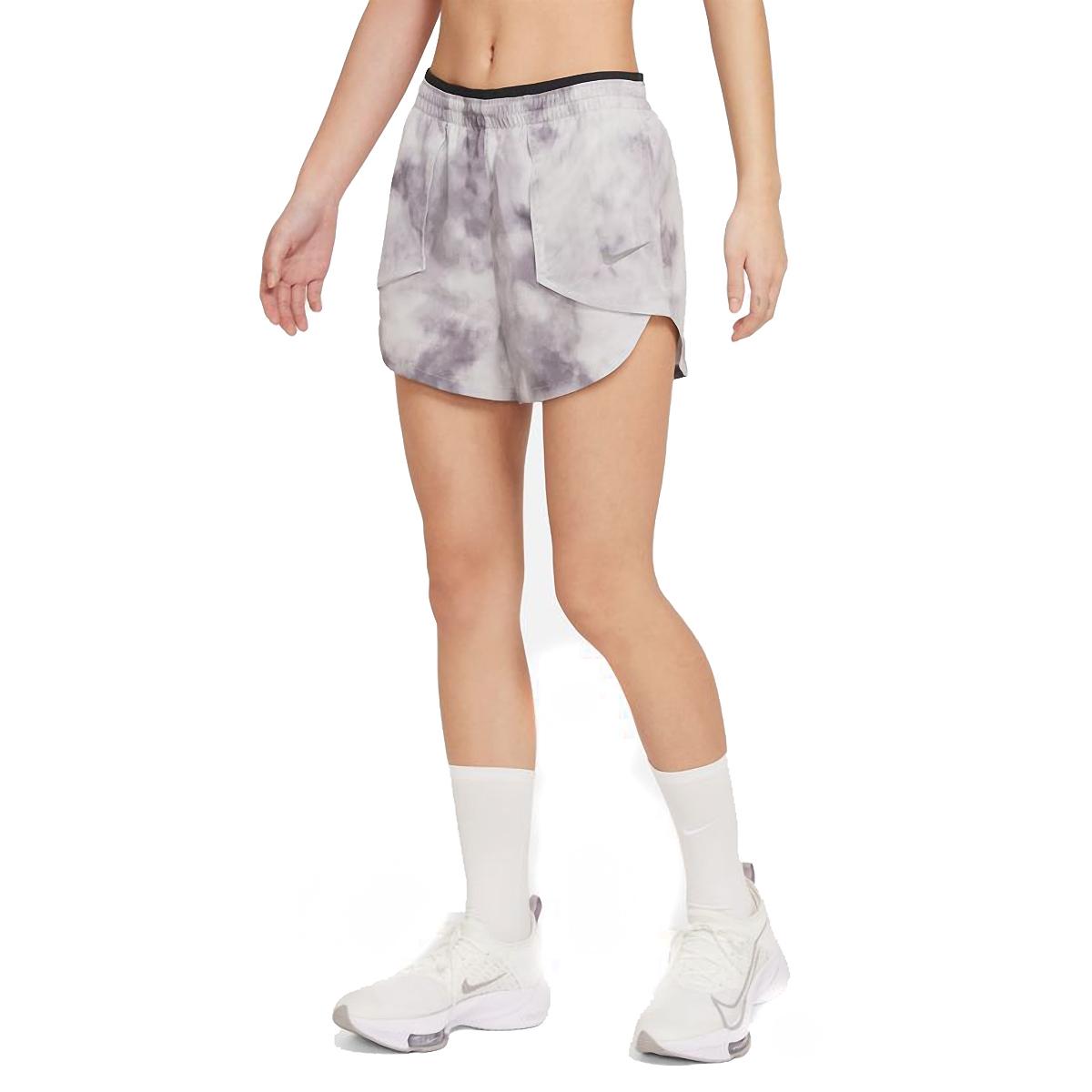 Women's Nike Tempo Luxe Icon Clash Running Shorts - Color: Light Smoke Grey/Dark Smoke Grey/Iron Grey - Size: XS, Light Smoke Grey/Dark Smoke Grey/Iron Grey, large, image 1