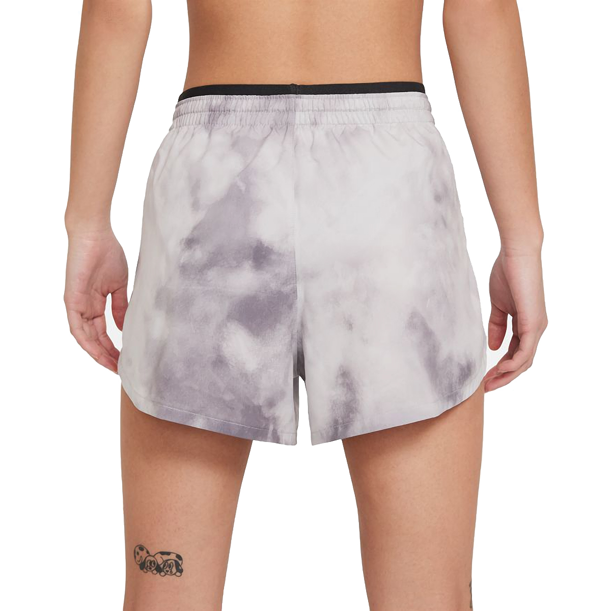 Women's Nike Tempo Luxe Icon Clash Running Shorts - Color: Light Smoke Grey/Dark Smoke Grey/Iron Grey - Size: XS, Light Smoke Grey/Dark Smoke Grey/Iron Grey, large, image 2