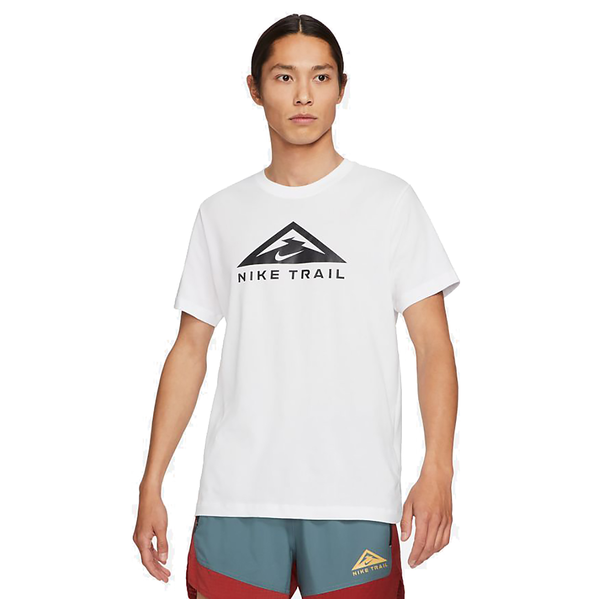 Men's Nike Dri-FIT Short-Sleeve Trail Running T-Shirt - Color: White - Size: XS, White, large, image 1