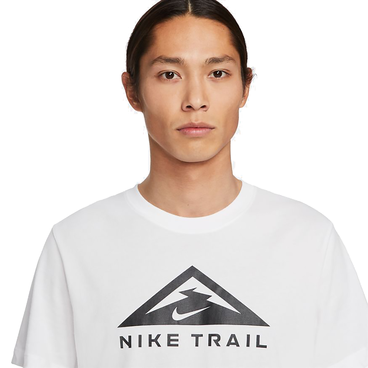 Men's Nike Dri-FIT Short-Sleeve Trail Running T-Shirt - Color: White - Size: XS, White, large, image 4