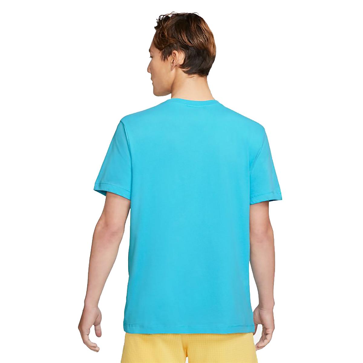 Men's Nike Dri-FIT Short-Sleeve Trail Running T-Shirt - Color: Chlorine Blue - Size: XS, Chlorine Blue, large, image 2