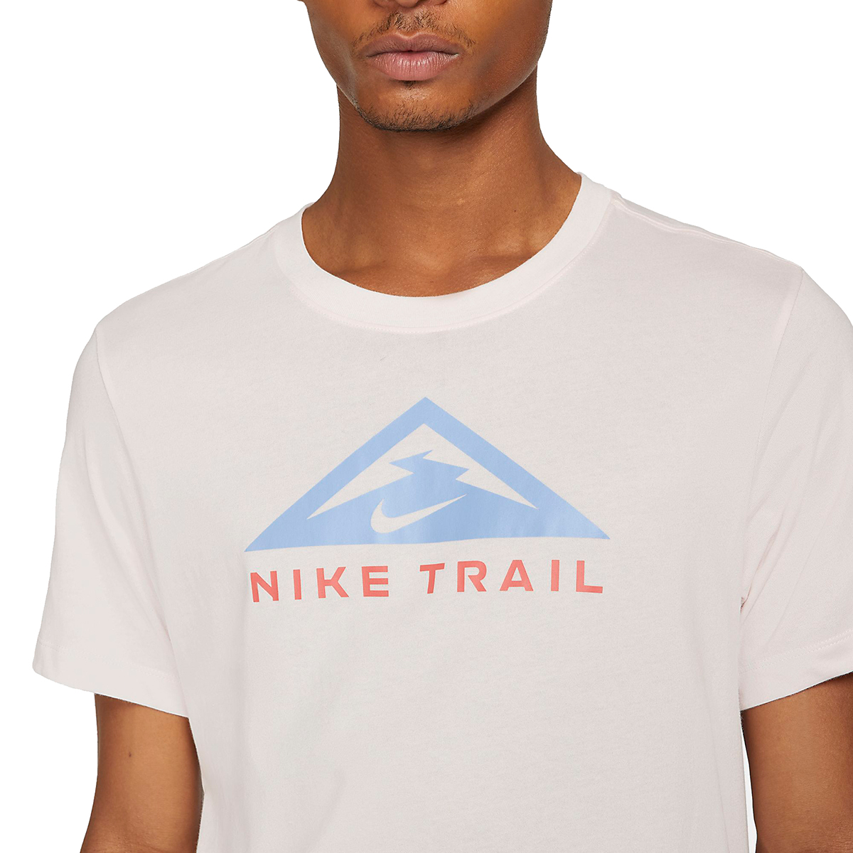 Men's Nike Dri-FIT Short Sleeve Trail Running T-Shirt - Color: Light Soft Pink - Size: XS, Light Soft Pink, large, image 3