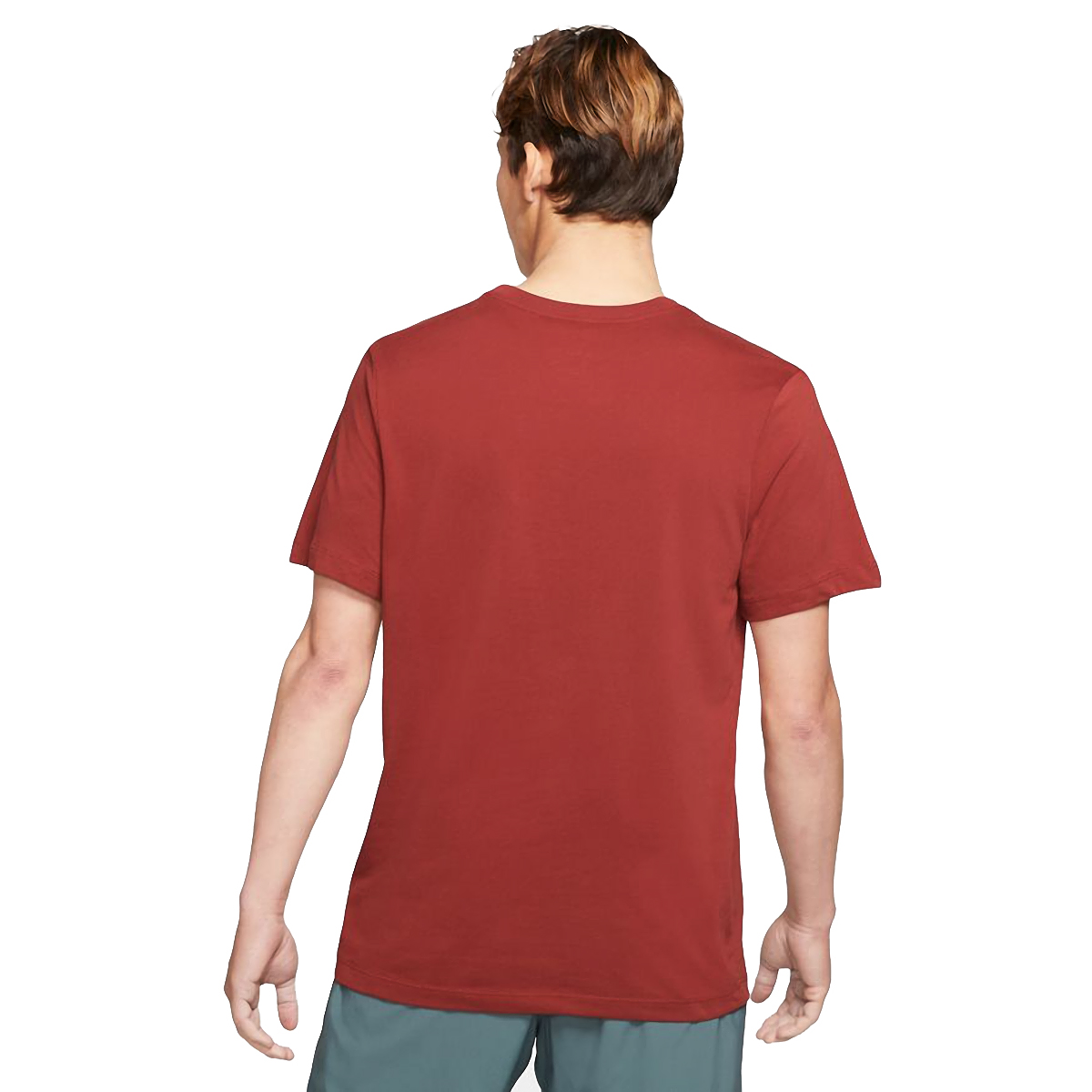Men's Nike Dri-FIT Short-Sleeve Trail Running T-Shirt - Color: Dark Cayenne - Size: XS, Dark Cayenne, large, image 2