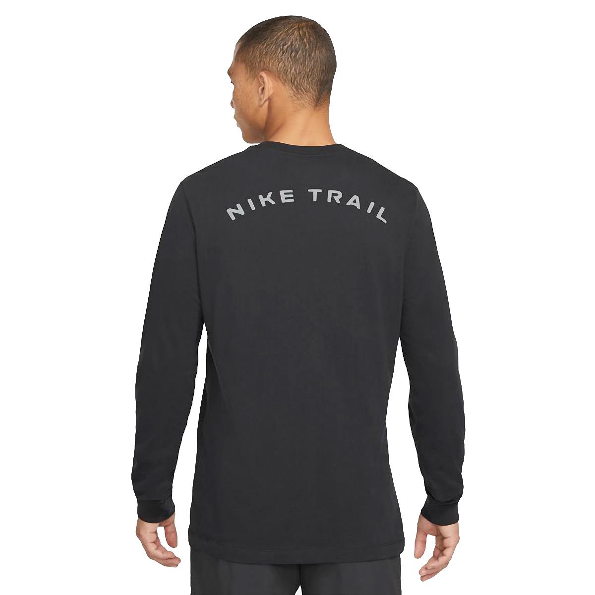 Men's Nike Dri-FIT Long-Sleeve Trail Running T-Shirt - Color: Black - Size: XS, Black, large, image 2