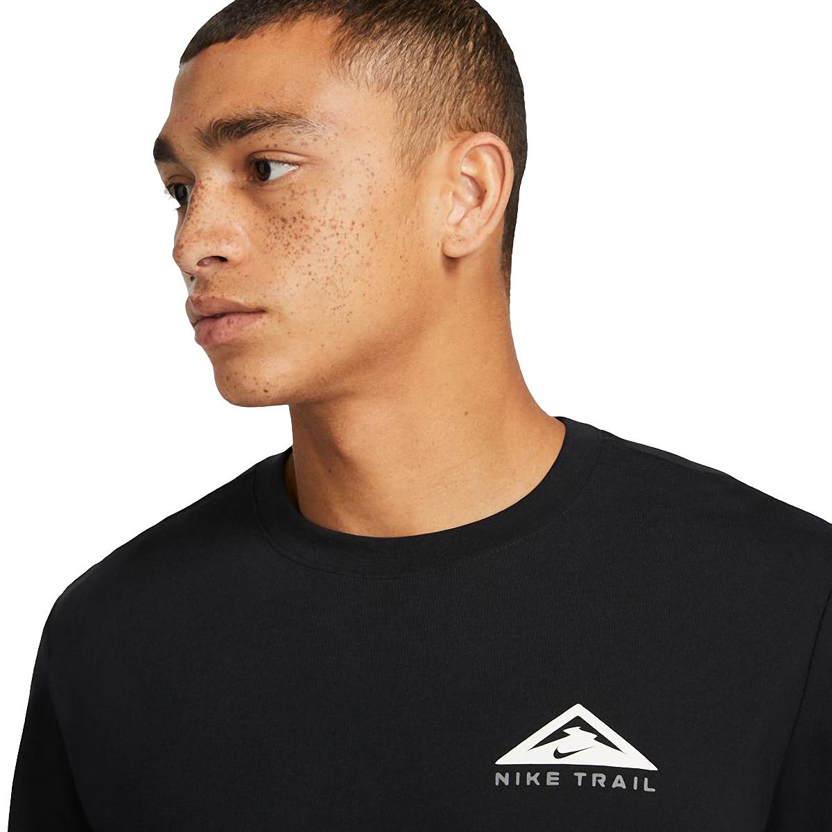 Men's Nike Dri-FIT Long-Sleeve Trail Running T-Shirt - Color: Black - Size: XS, Black, large, image 3