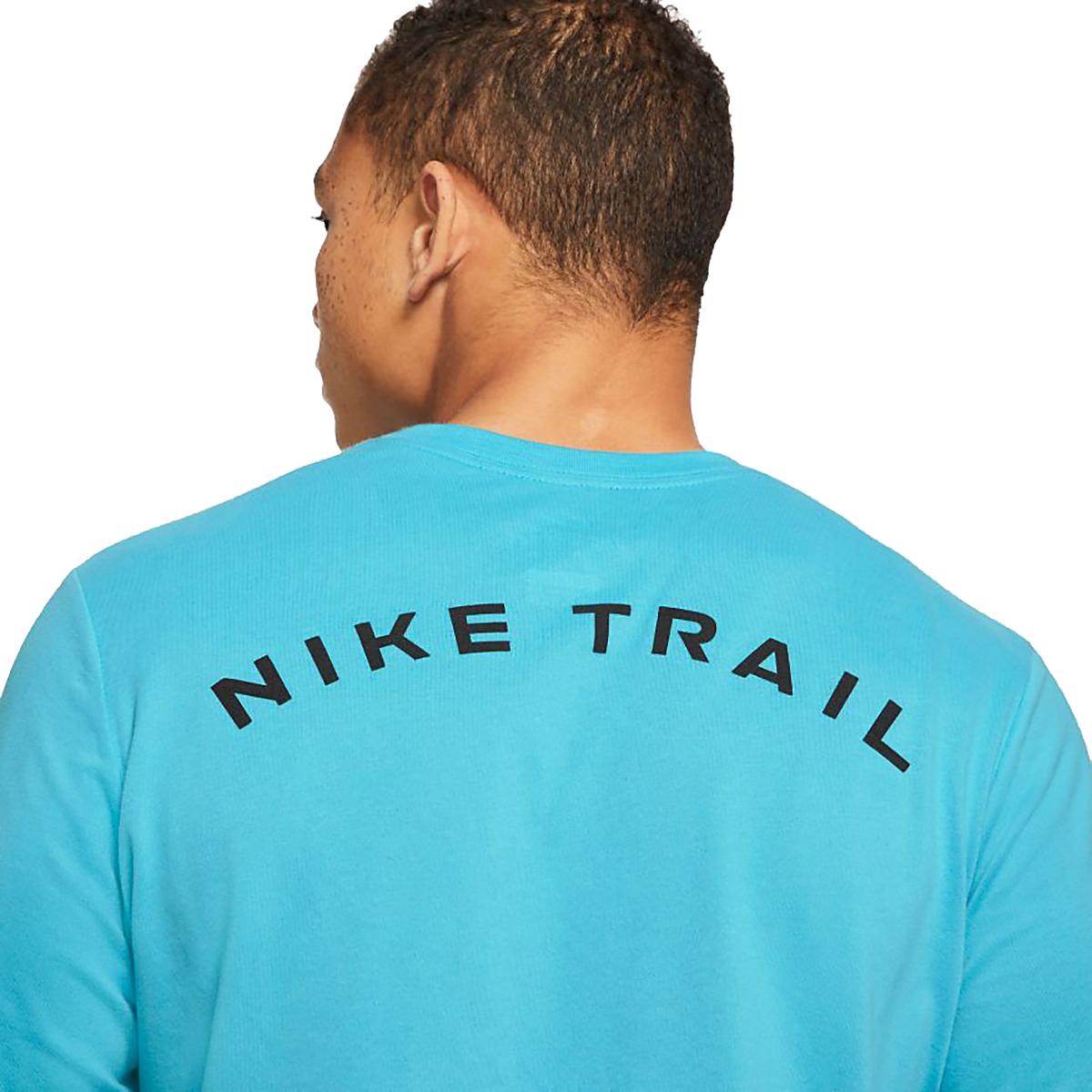 Men's Nike Dri-FIT Long-Sleeve Trail Running T-Shirt - Color: Chlorine Blue - Size: XS, Chlorine Blue, large, image 4