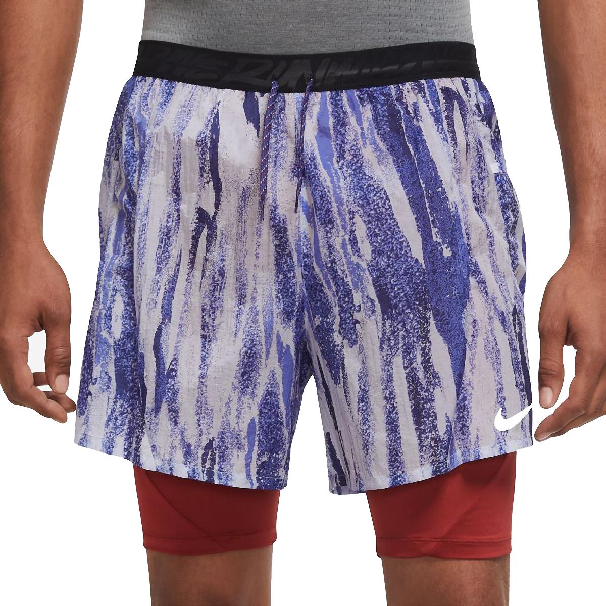 """Men's Nike Flex Stride Wild Run 2-in-1 5"""" Running Shorts - Color: Ghost/Dark Cayenne - Size: S, Ghost/Dark Cayenne, large, image 1"""
