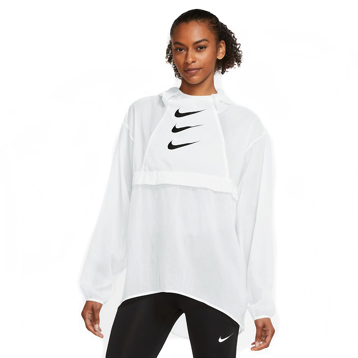 Women's Nike Run Division Package Running Jacket - Color: White/Black - Size: XS, White/Black, large, image 1