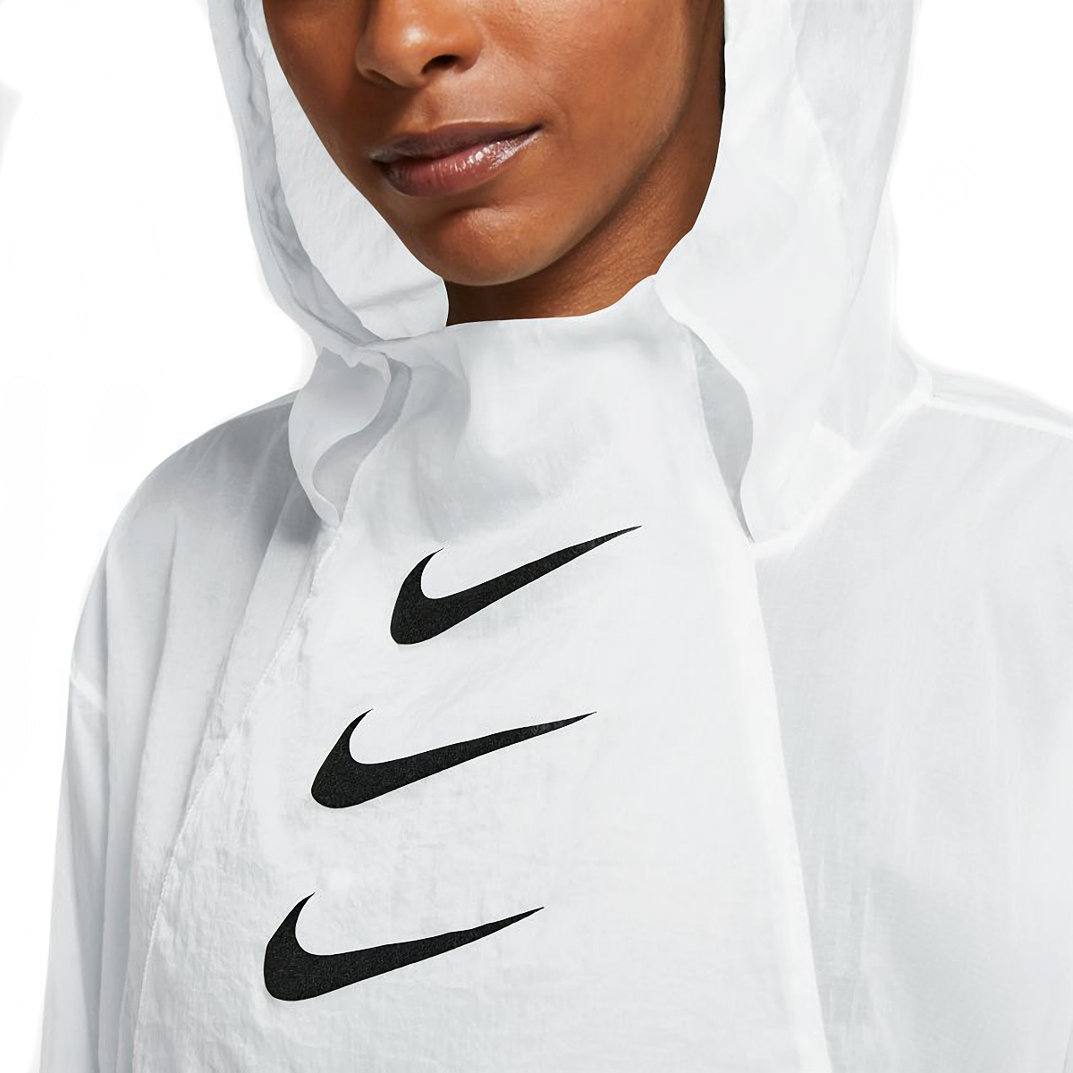 Women's Nike Run Division Package Running Jacket - Color: White/Black - Size: XS, White/Black, large, image 3