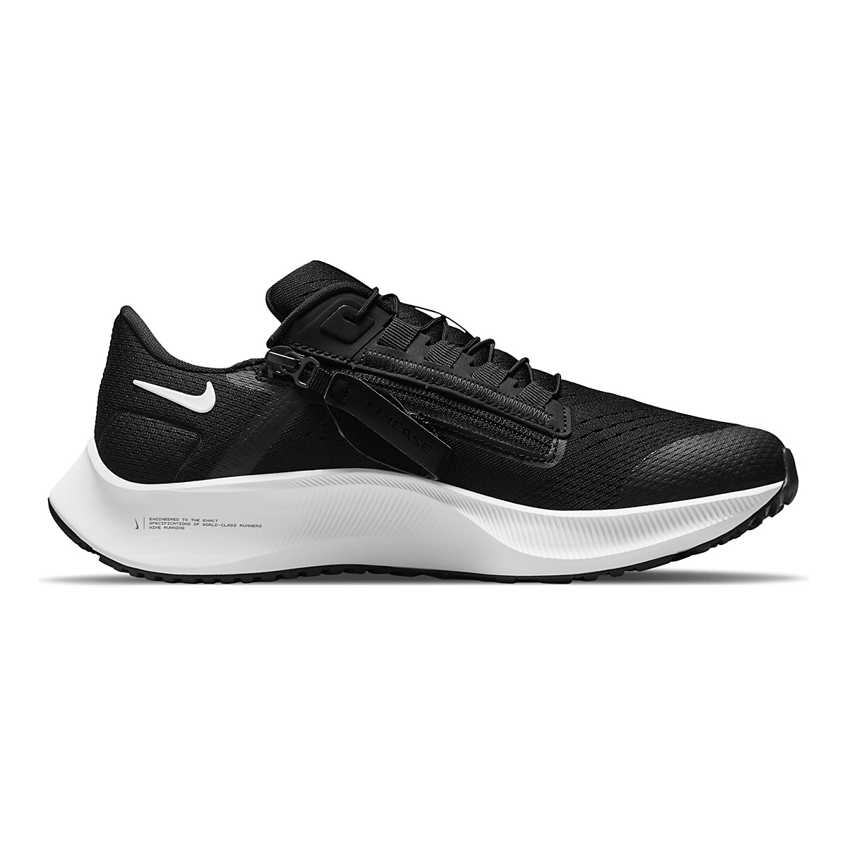 Women's Nike Air Zoom Pegasus 38 Flyease Running Shoe - Color: Black/White/Anthracite - Size: 5 - Width: Regular, Black/White/Anthracite, large, image 1
