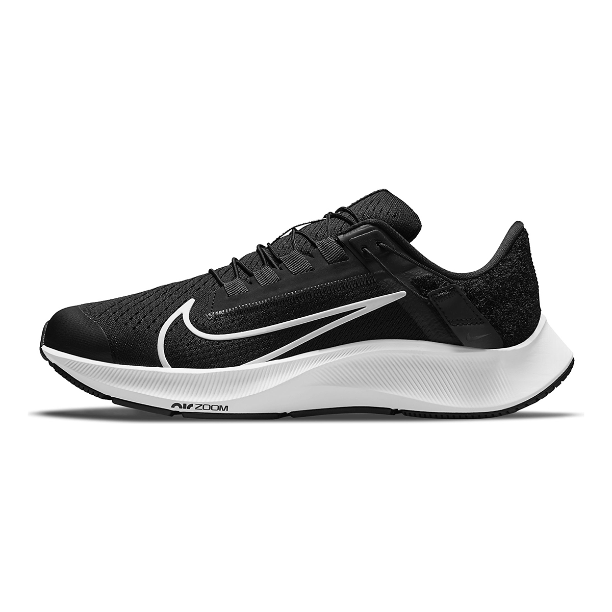 Women's Nike Air Zoom Pegasus 38 Flyease Running Shoe - Color: Black/White/Anthracite - Size: 5 - Width: Regular, Black/White/Anthracite, large, image 2