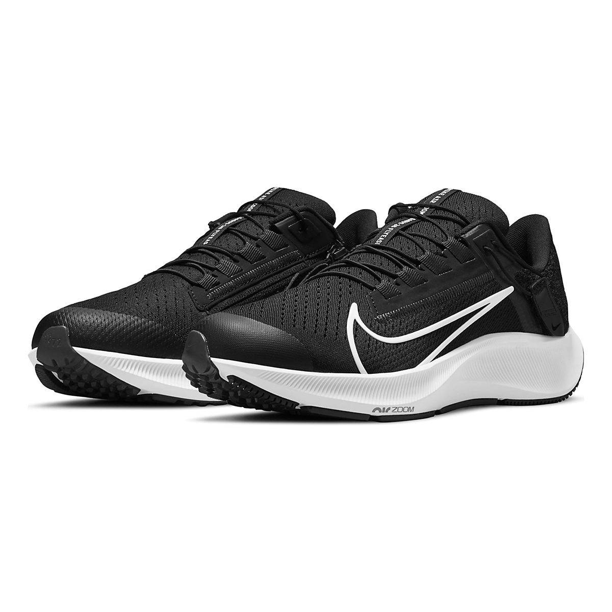 Women's Nike Air Zoom Pegasus 38 Flyease Running Shoe - Color: Black/White/Anthracite - Size: 5 - Width: Regular, Black/White/Anthracite, large, image 3