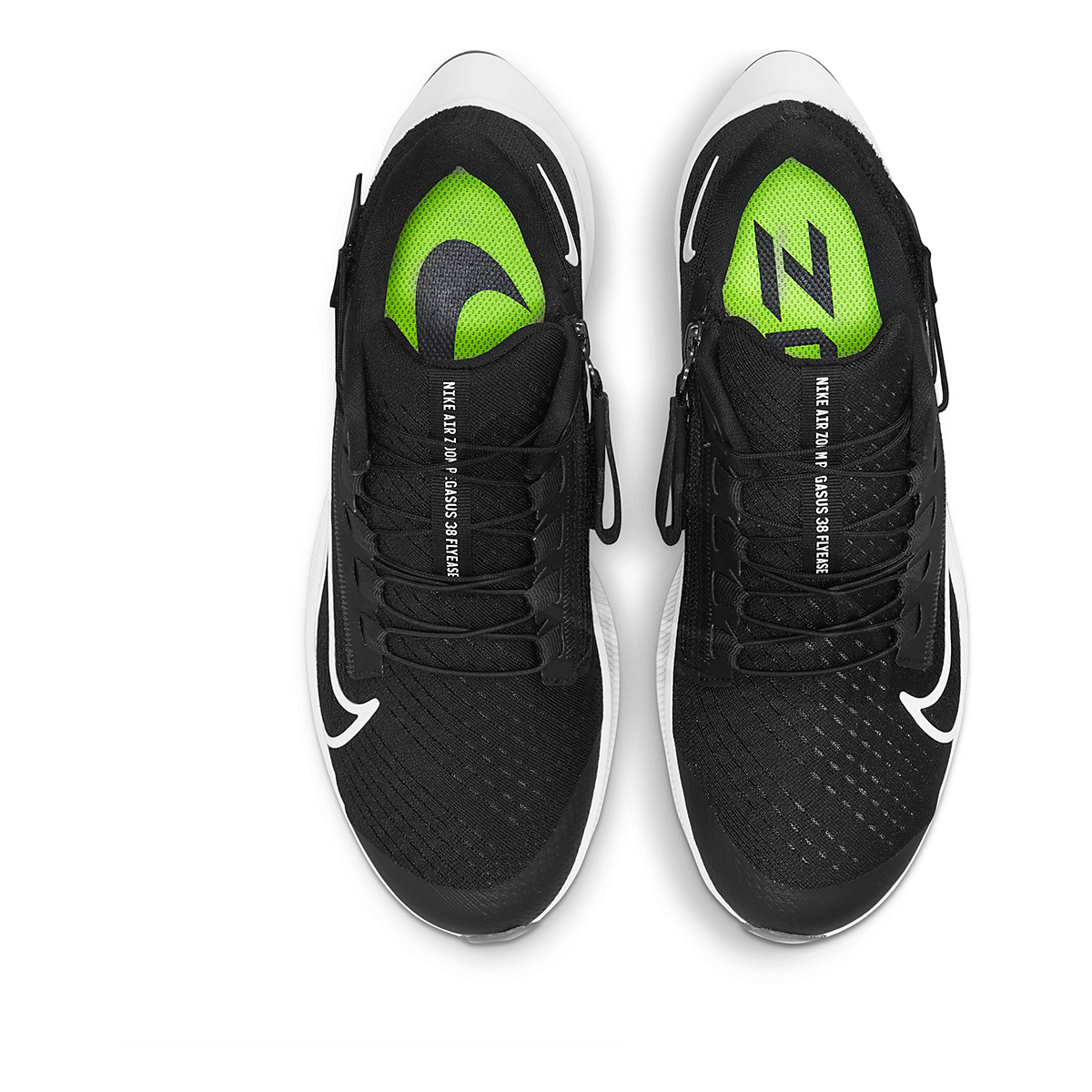 Women's Nike Air Zoom Pegasus 38 Flyease Running Shoe - Color: Black/White/Anthracite - Size: 5 - Width: Regular, Black/White/Anthracite, large, image 4