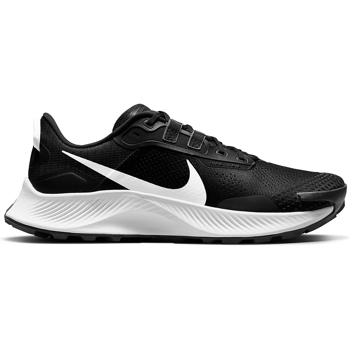 Men's Nike Pegasus Trail 3 Trail Running Shoe  - Color: Black/Pure Platinum/Dark Smoke Grey  - Size: 6 - Width: Regular, Black/Pure Platinum/Dark Smoke Grey, large, image 1