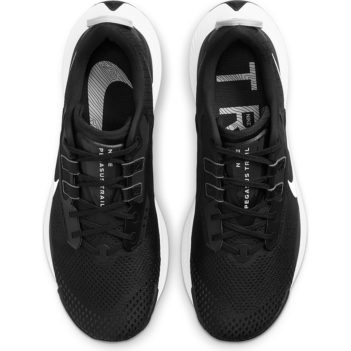 Men's Nike Pegasus Trail 3 Trail Running Shoe  - Color: Black/Pure Platinum/Dark Smoke Grey  - Size: 6 - Width: Regular, Black/Pure Platinum/Dark Smoke Grey, large, image 3