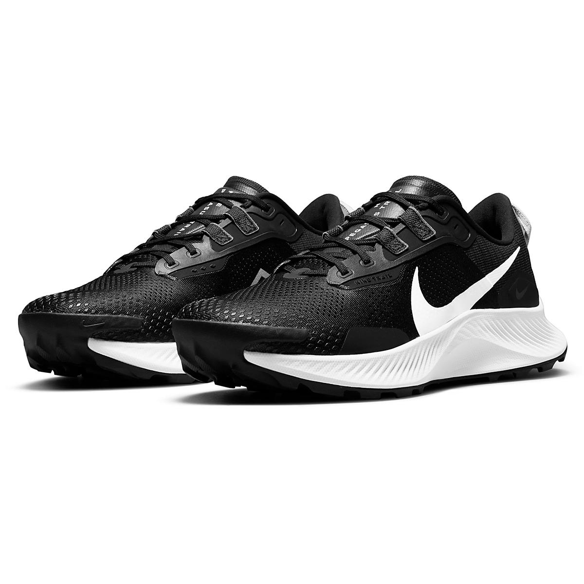 Men's Nike Pegasus Trail 3 Trail Running Shoe  - Color: Black/Pure Platinum/Dark Smoke Grey  - Size: 6 - Width: Regular, Black/Pure Platinum/Dark Smoke Grey, large, image 7
