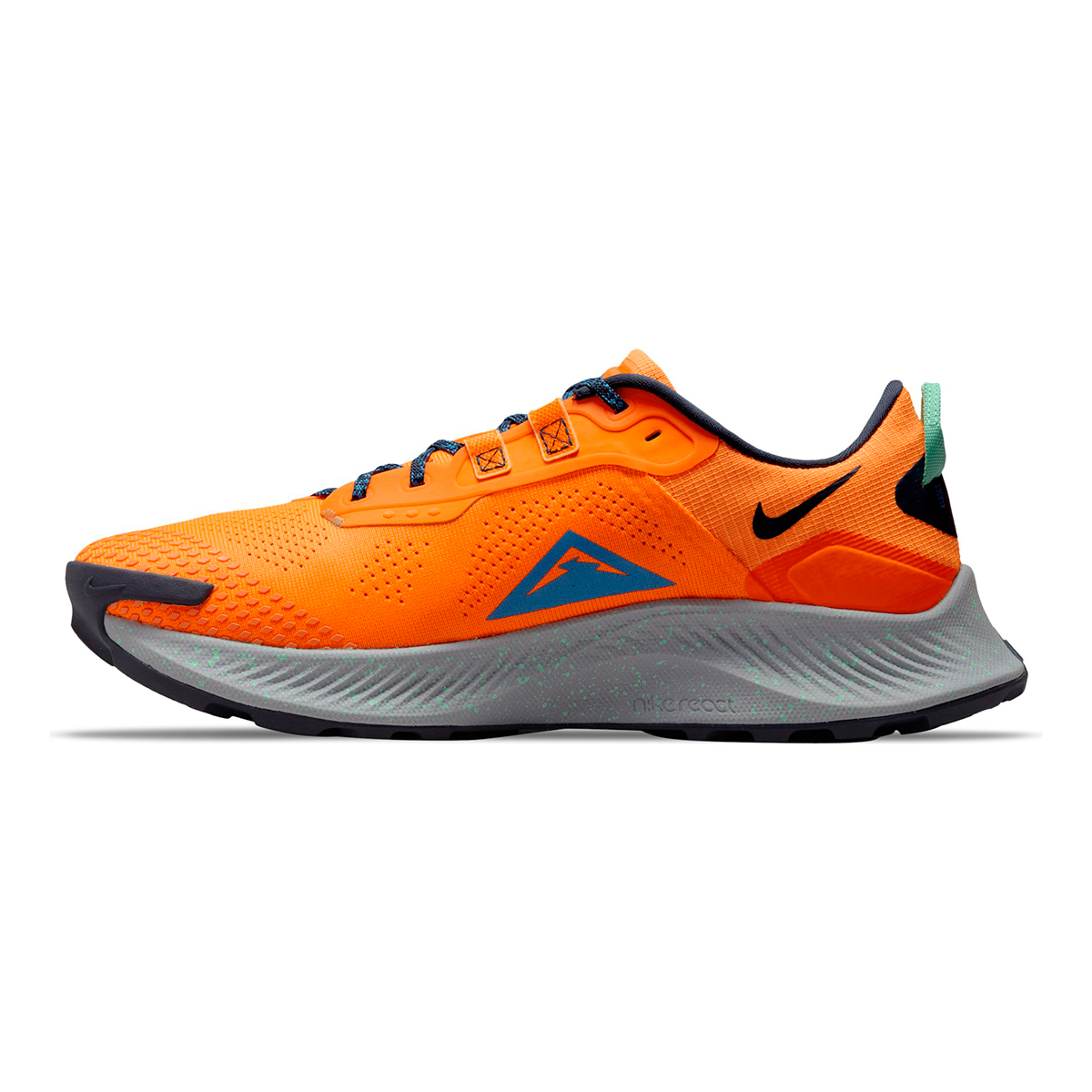 Men's Nike Pegasus Trail 3 Trail Running Shoe - Color: Total Orange/Signal Blue/Wolf Grey - Size: 6 - Width: Regular, Total Orange/Signal Blue/Wolf Grey, large, image 2