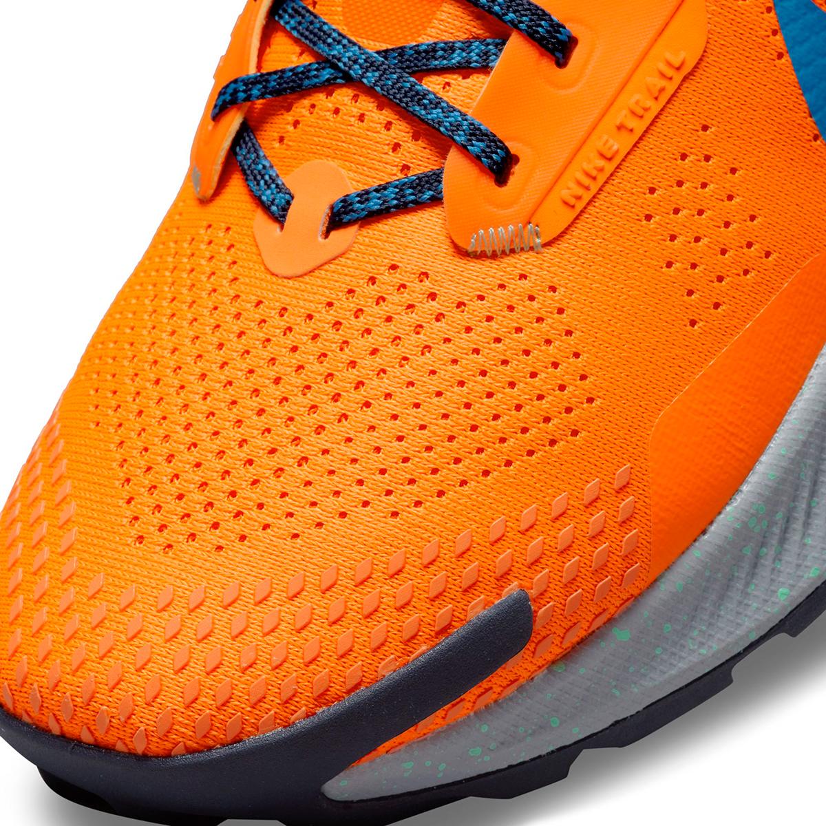 Men's Nike Pegasus Trail 3 Trail Running Shoe - Color: Total Orange/Signal Blue/Wolf Grey - Size: 6 - Width: Regular, Total Orange/Signal Blue/Wolf Grey, large, image 4