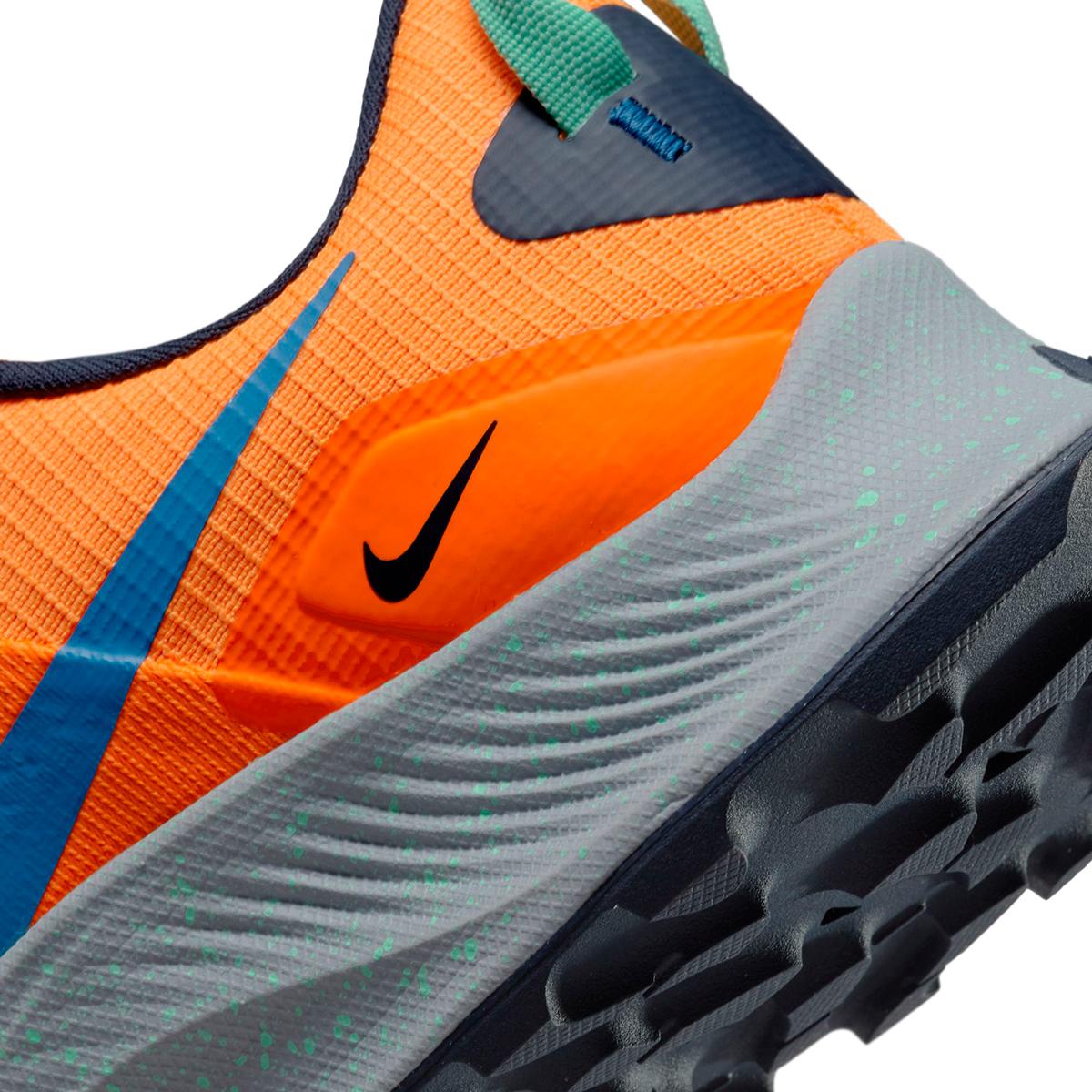 Men's Nike Pegasus Trail 3 Trail Running Shoe - Color: Total Orange/Signal Blue/Wolf Grey - Size: 6 - Width: Regular, Total Orange/Signal Blue/Wolf Grey, large, image 5