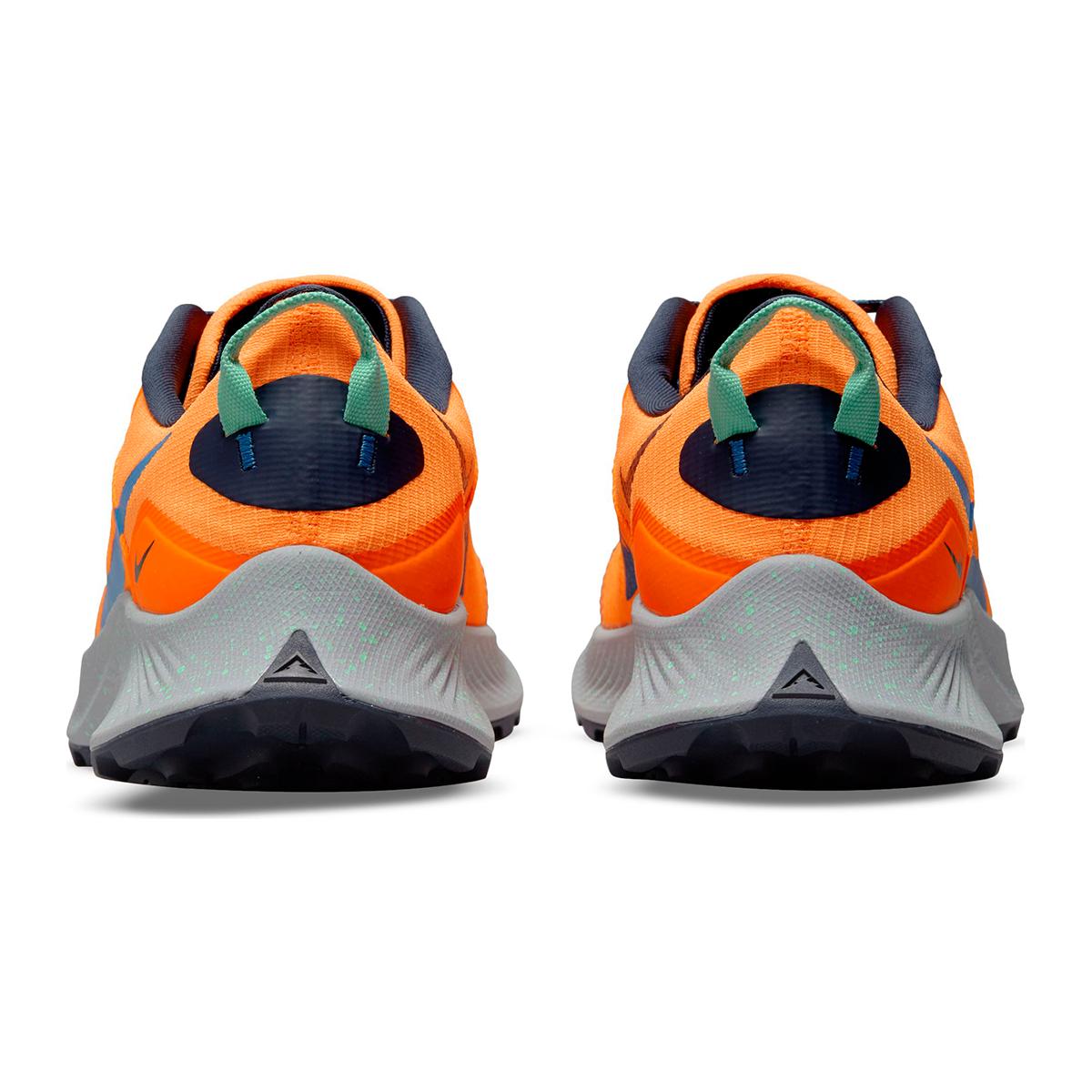 Men's Nike Pegasus Trail 3 Trail Running Shoe - Color: Total Orange/Signal Blue/Wolf Grey - Size: 6 - Width: Regular, Total Orange/Signal Blue/Wolf Grey, large, image 6