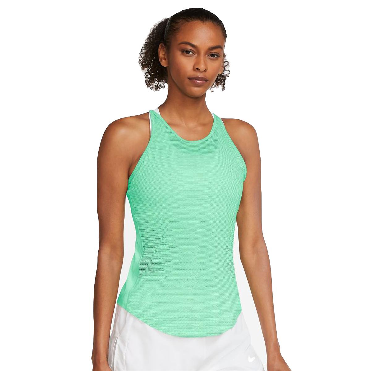 Women's Nike Run Division Engineered Running Tank - Color: Green Glow/White/Black - Size: S, Green Glow/White/Black, large, image 1
