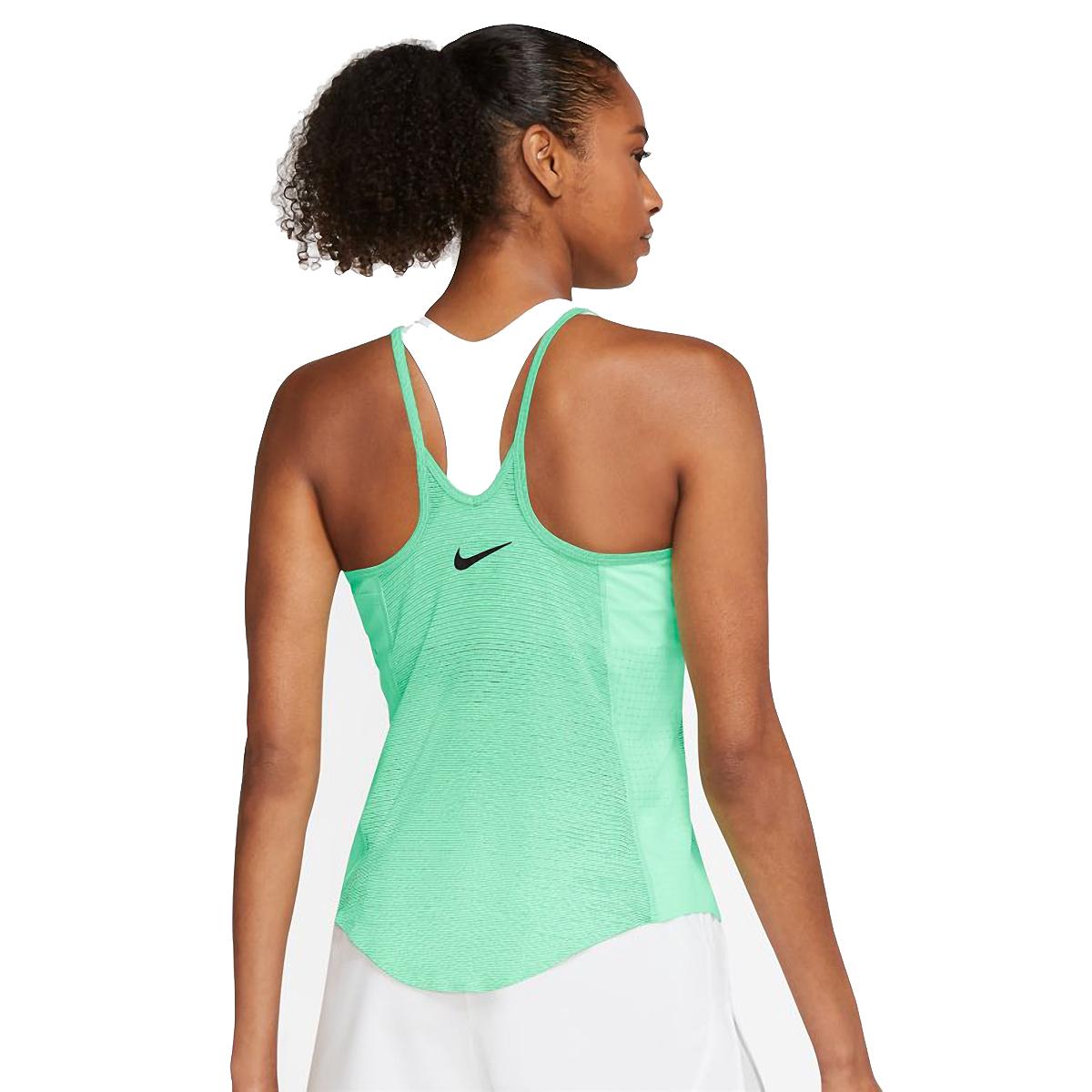 Women's Nike Run Division Engineered Running Tank - Color: Green Glow/White/Black - Size: S, Green Glow/White/Black, large, image 2