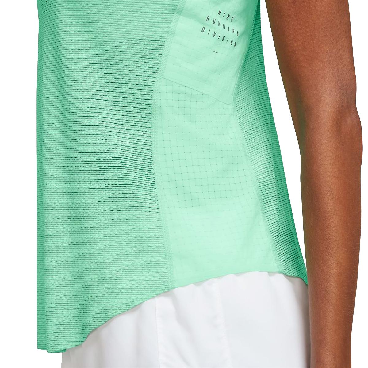 Women's Nike Run Division Engineered Running Tank - Color: Green Glow/White/Black - Size: S, Green Glow/White/Black, large, image 3