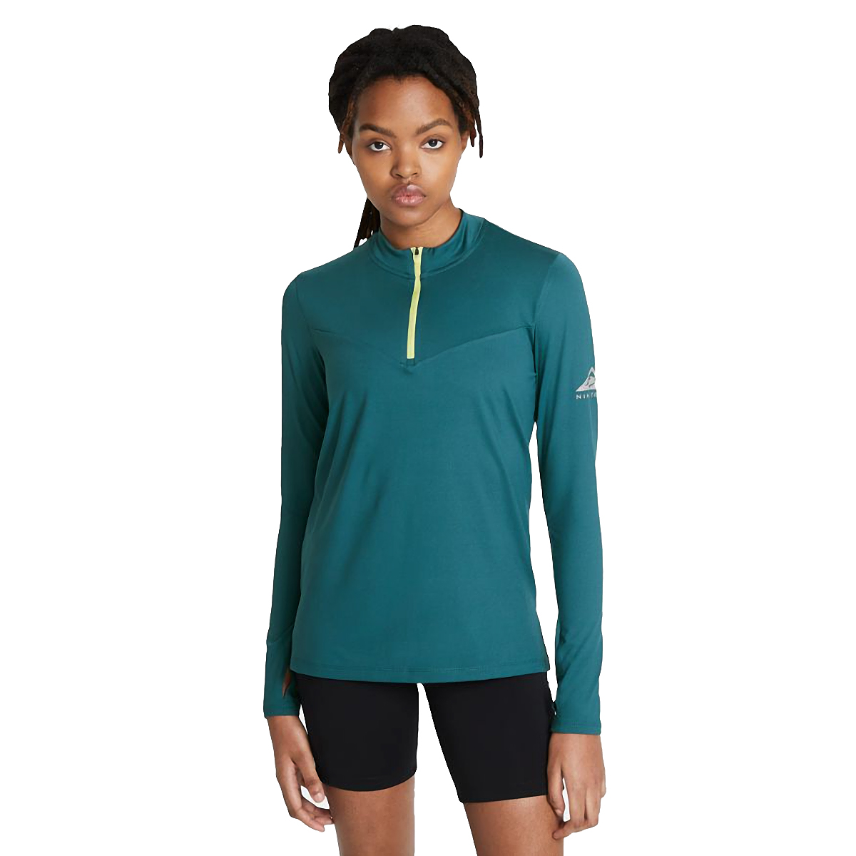Women's Nike Element Trail Running Midlayer - Color: Dark Teal Green/Reflective Silver - Size: XS, Dark Teal Green/Reflective Silver, large, image 1