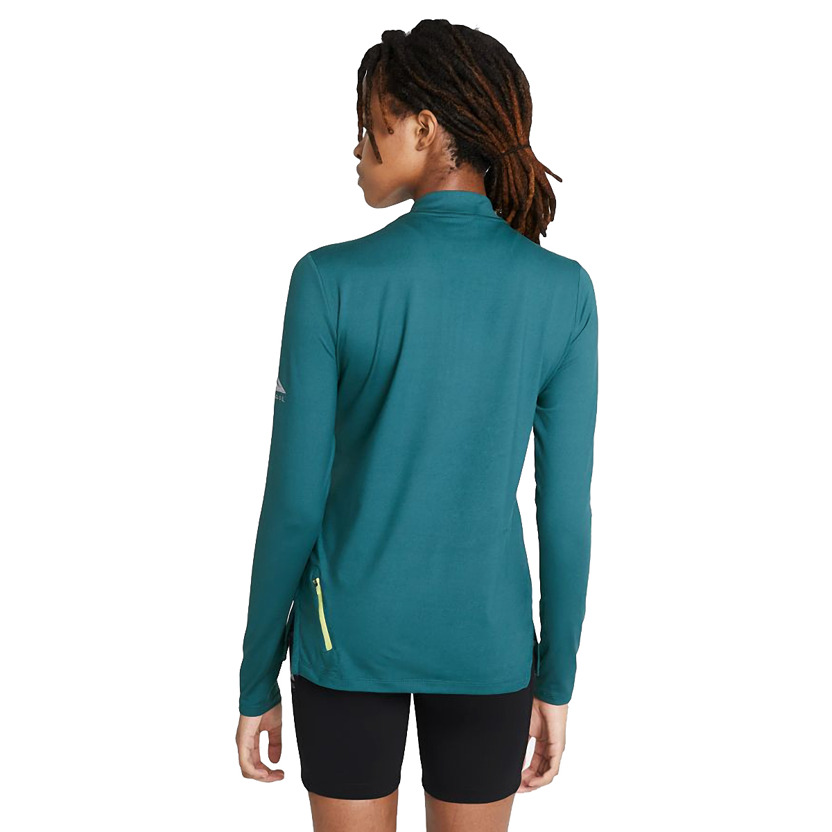 Women's Nike Element Trail Running Midlayer - Color: Dark Teal Green/Reflective Silver - Size: XS, Dark Teal Green/Reflective Silver, large, image 2