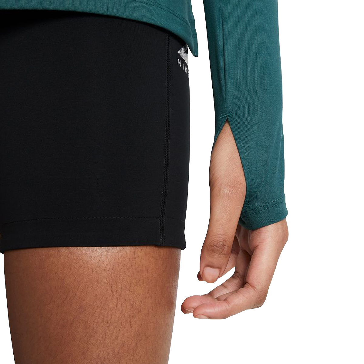 Women's Nike Element Trail Running Midlayer - Color: Dark Teal Green/Reflective Silver - Size: XS, Dark Teal Green/Reflective Silver, large, image 4