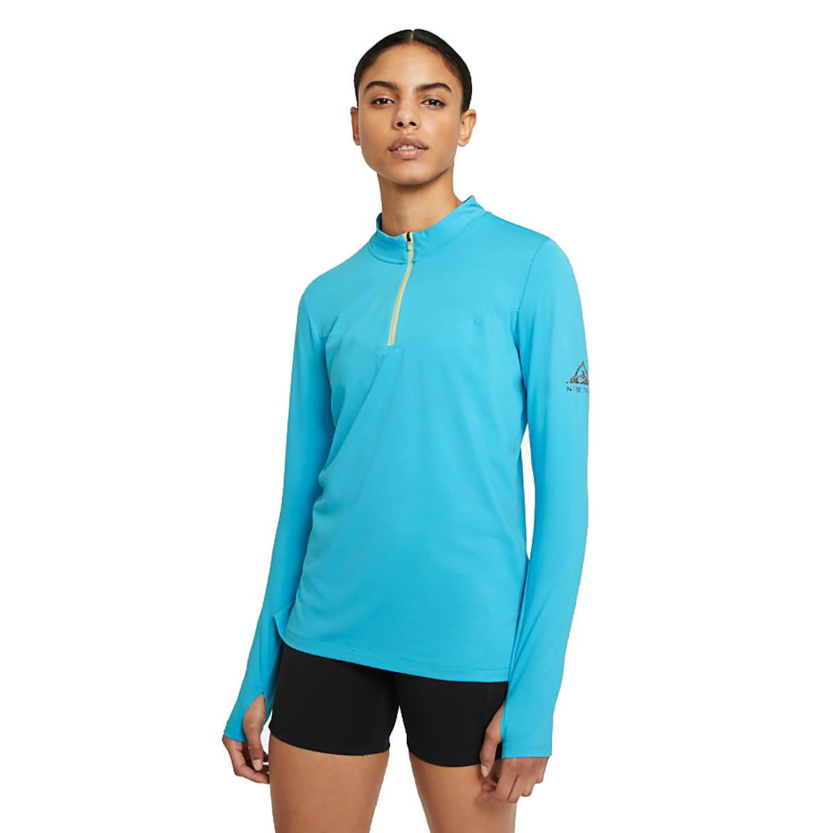 Women's Nike Element Trail Running Midlayer - Color: Chlorine Blue/Reflective Silv - Size: XS, Chlorine Blue/Reflective Silv, large, image 1