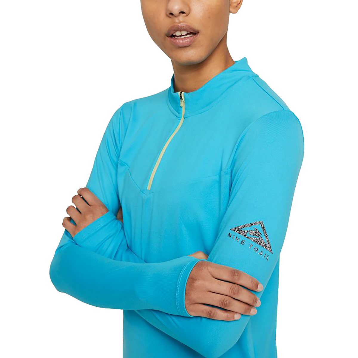 Women's Nike Element Trail Running Midlayer - Color: Chlorine Blue/Reflective Silv - Size: XS, Chlorine Blue/Reflective Silv, large, image 3