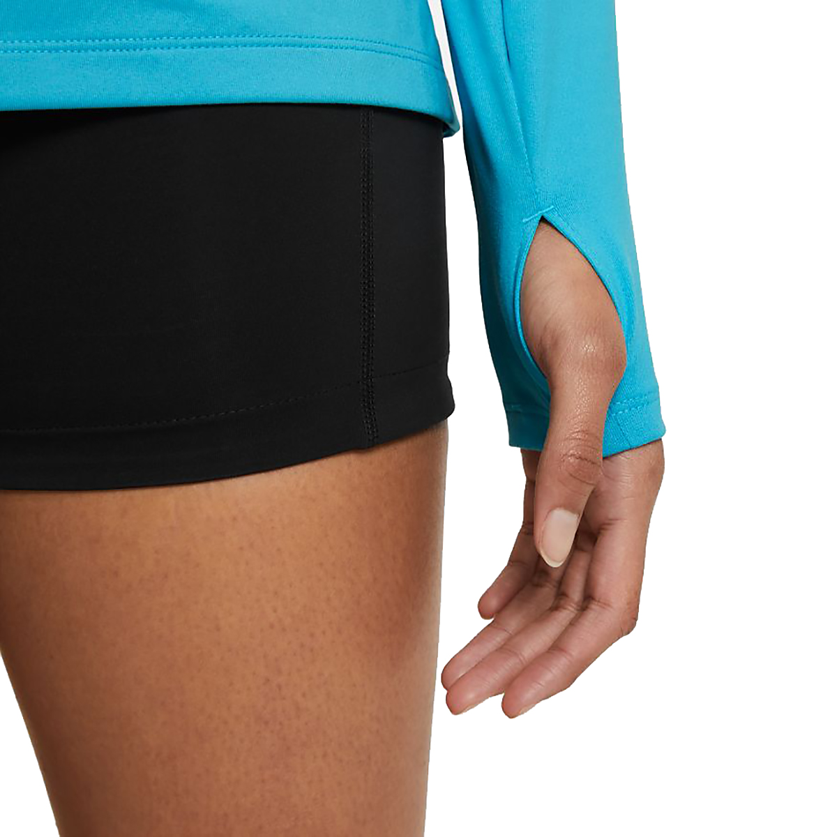 Women's Nike Element Trail Running Midlayer - Color: Chlorine Blue/Reflective Silv - Size: XS, Chlorine Blue/Reflective Silv, large, image 4