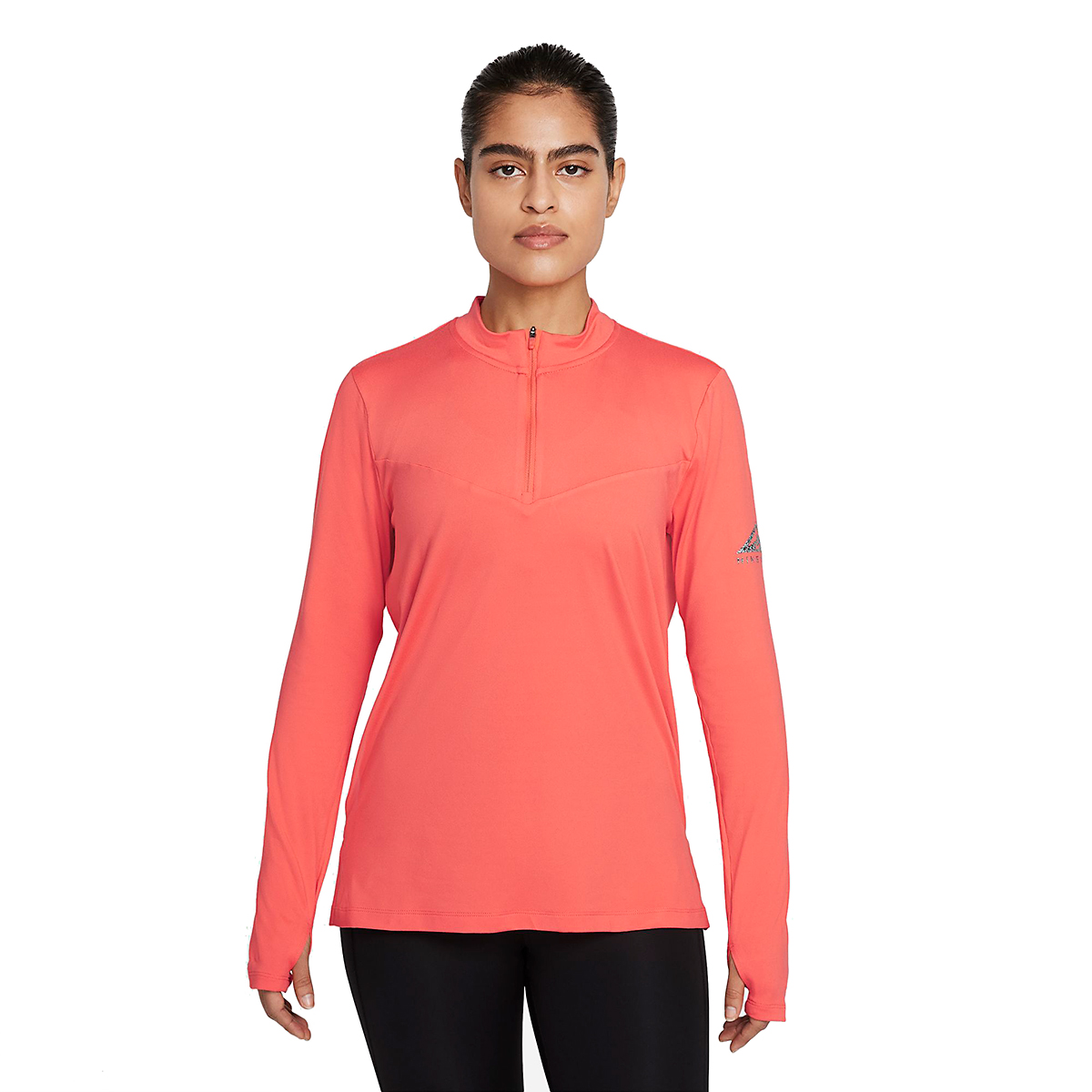 Women's Nike Element Trail Running Midlayer - Color: Magic Ember/Reflective Silver - Size: XS, Magic Ember/Reflective Silver, large, image 1
