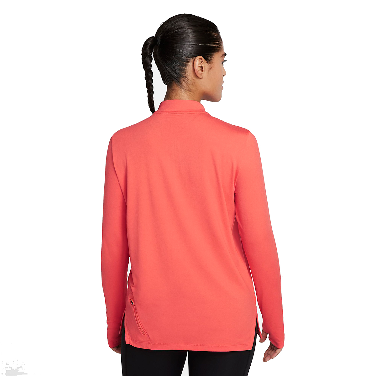 Women's Nike Element Trail Running Midlayer - Color: Magic Ember/Reflective Silver - Size: XS, Magic Ember/Reflective Silver, large, image 2
