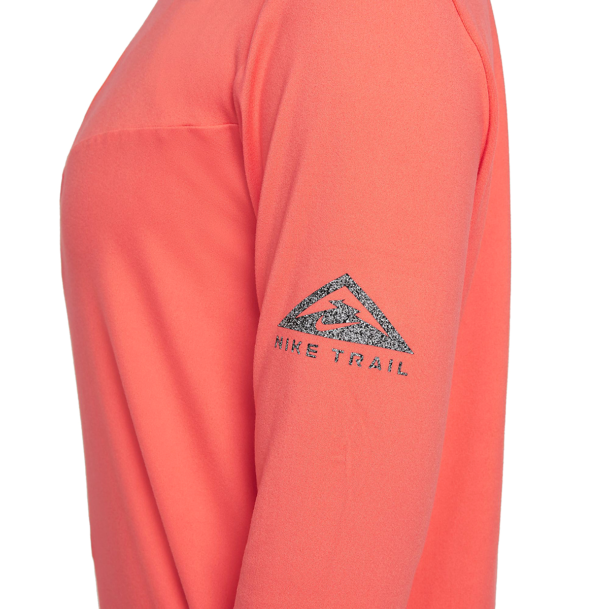 Women's Nike Element Trail Running Midlayer - Color: Magic Ember/Reflective Silver - Size: XS, Magic Ember/Reflective Silver, large, image 4
