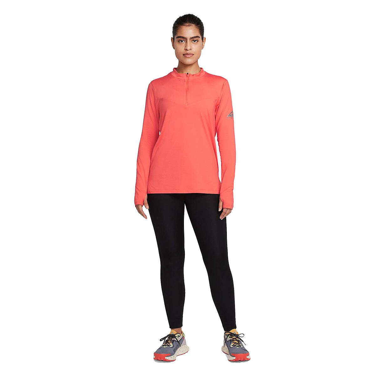 Women's Nike Element Trail Running Midlayer - Color: Magic Ember/Reflective Silver - Size: XS, Magic Ember/Reflective Silver, large, image 7