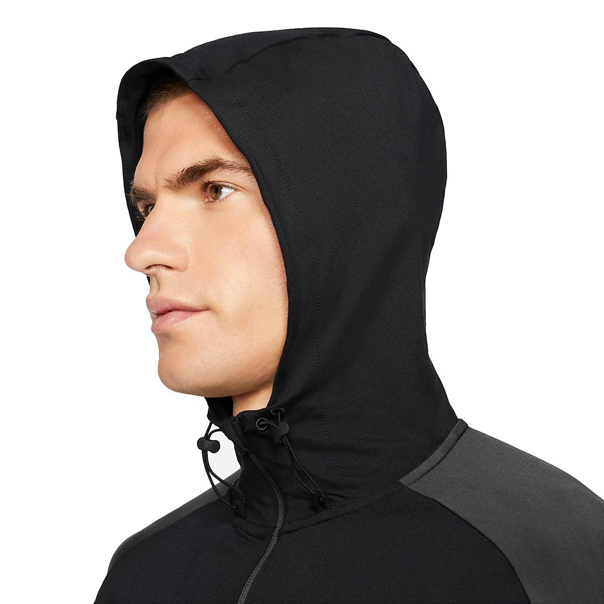 Men's Nike Dri-FIT Element 1/2-Zip Trail Running Top - Color: Black/Black/Dark Smoke Grey/White - Size: XS, Black/Black/Dark Smoke Grey/White, large, image 3