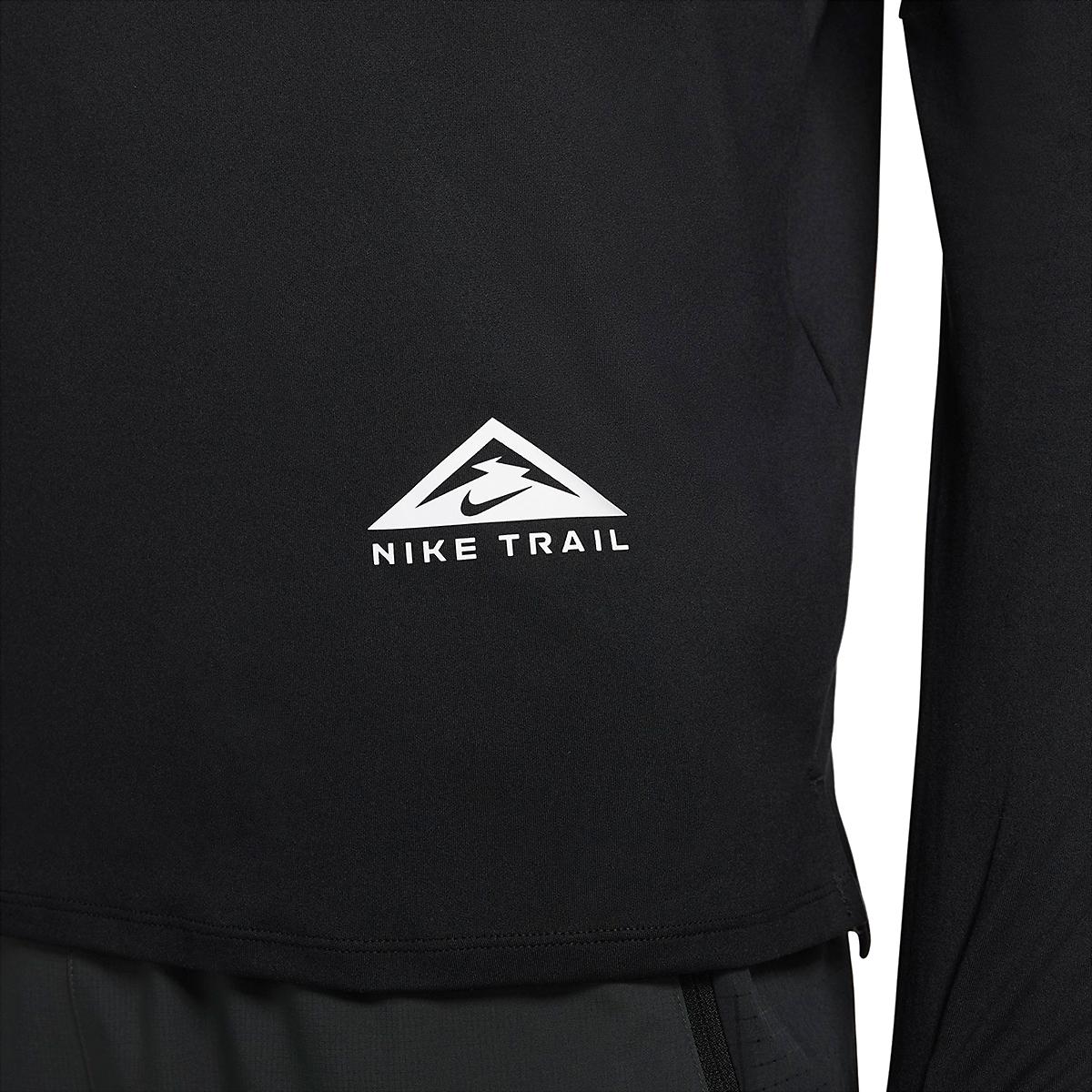 Men's Nike Dri-FIT Element 1/2-Zip Trail Running Top - Color: Black/Black/Dark Smoke Grey/White - Size: XS, Black/Black/Dark Smoke Grey/White, large, image 4
