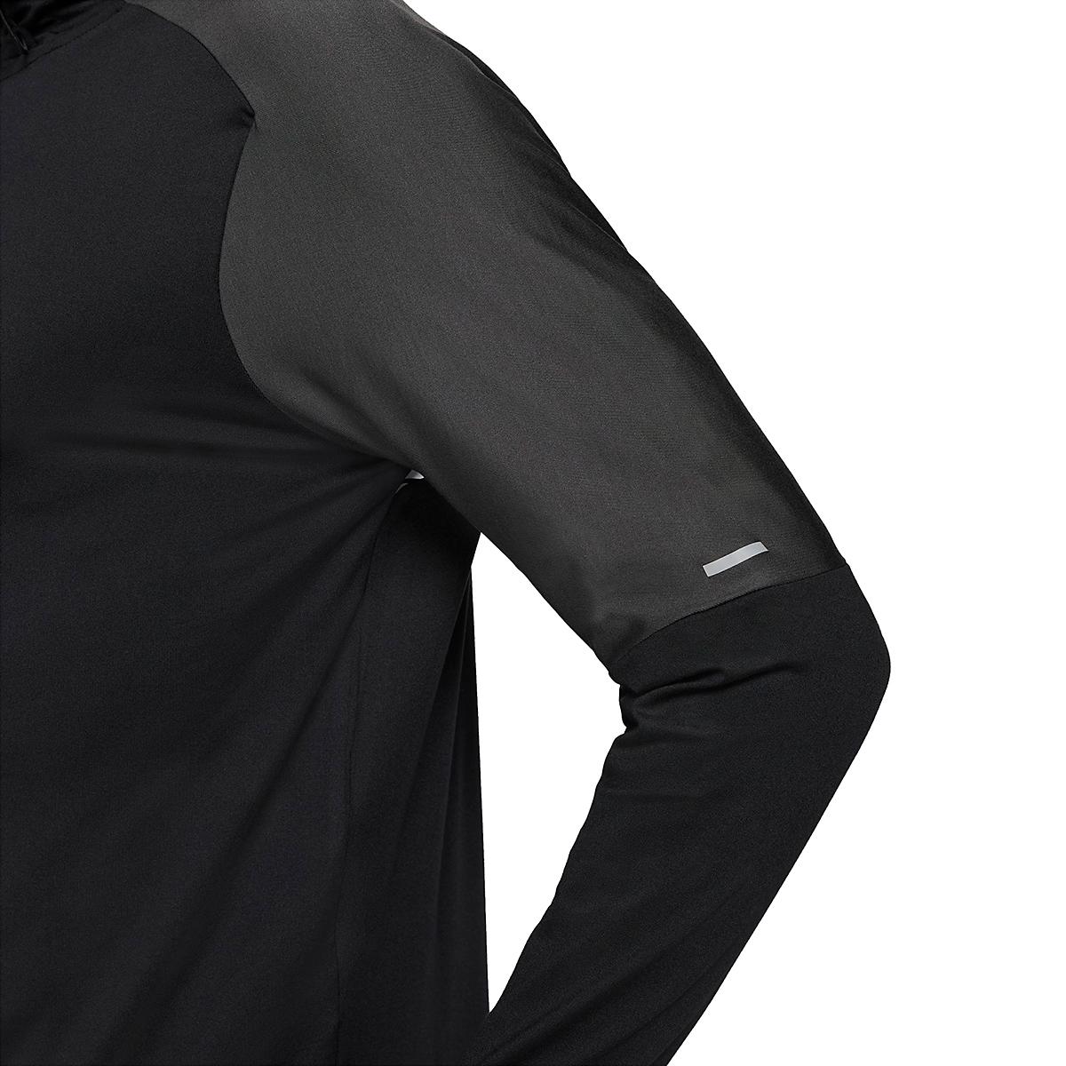Men's Nike Dri-FIT Element 1/2-Zip Trail Running Top - Color: Black/Black/Dark Smoke Grey/White - Size: XS, Black/Black/Dark Smoke Grey/White, large, image 7