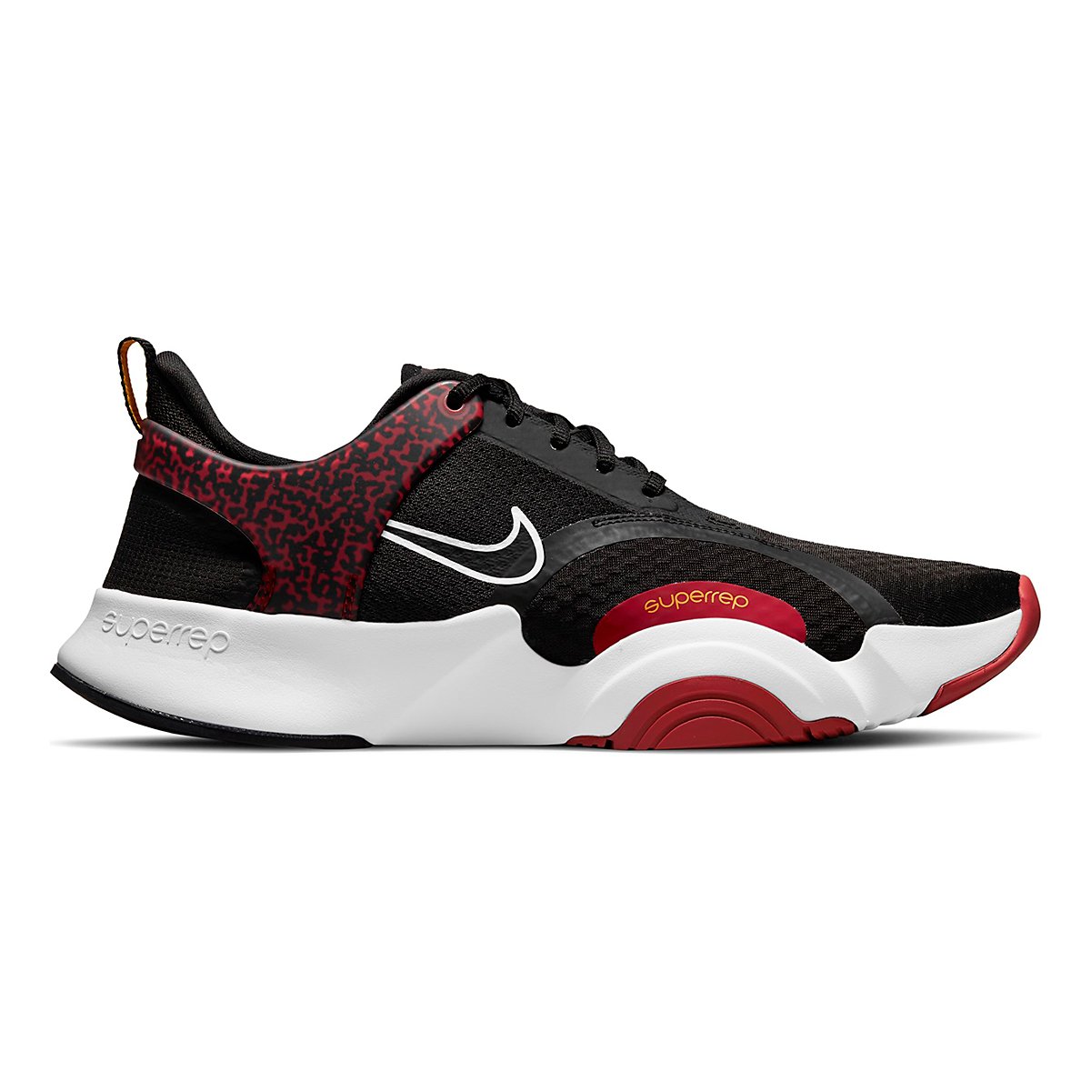 Men's Nike SuperRep Go 2 Training Shoe - Color: Black/White/Dark Cayenne/Solar Flare - Size: 6 - Width: Regular, Black/White/Dark Cayenne/Solar Flare, large, image 1
