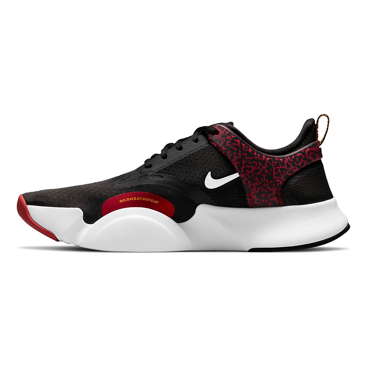 Men's Nike SuperRep Go 2 Training Shoe - Color: Black/White/Dark Cayenne/Solar Flare - Size: 6 - Width: Regular, Black/White/Dark Cayenne/Solar Flare, large, image 2